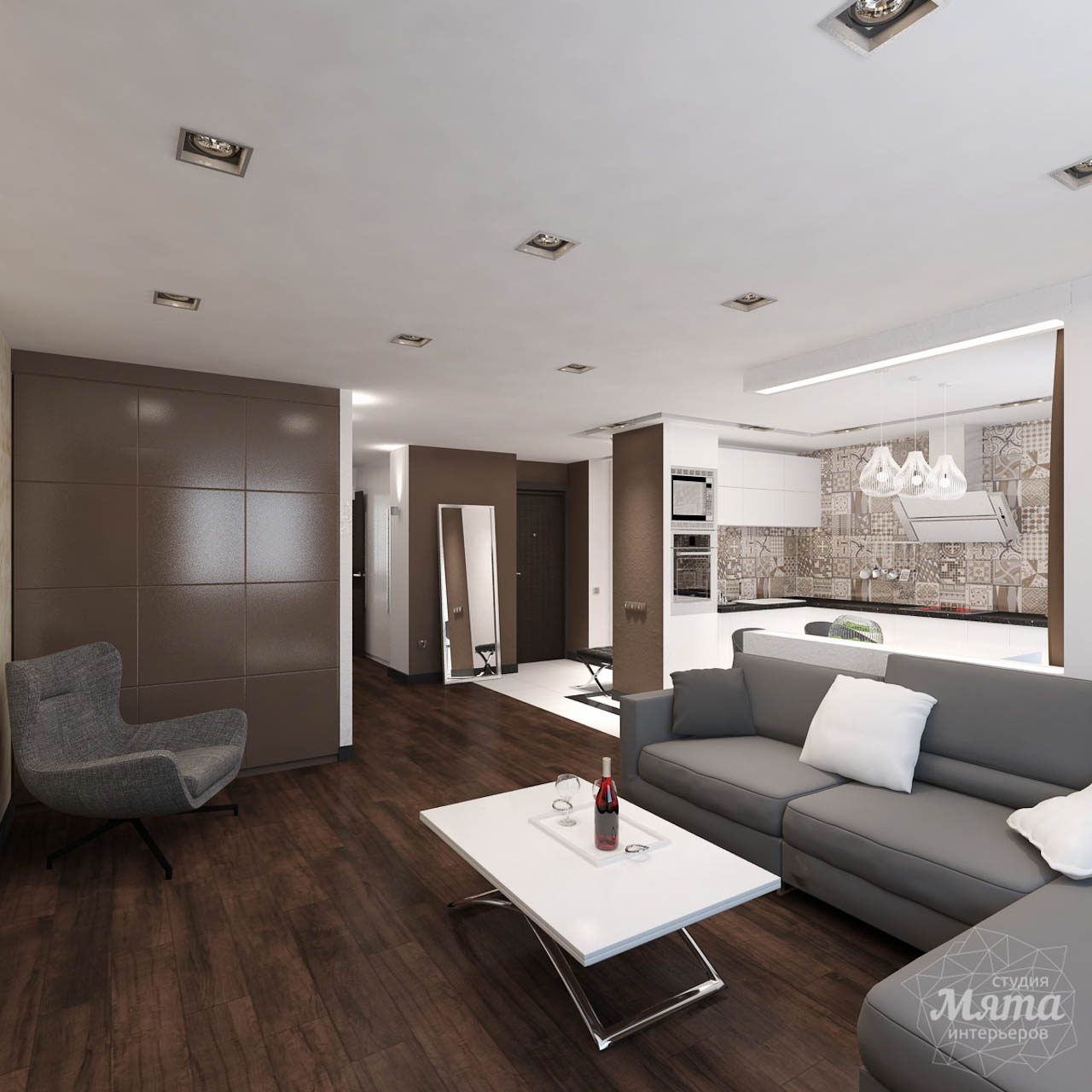 Дизайн интерьера однокомнатной квартиры по ул. Гагарина 27 img1368690574