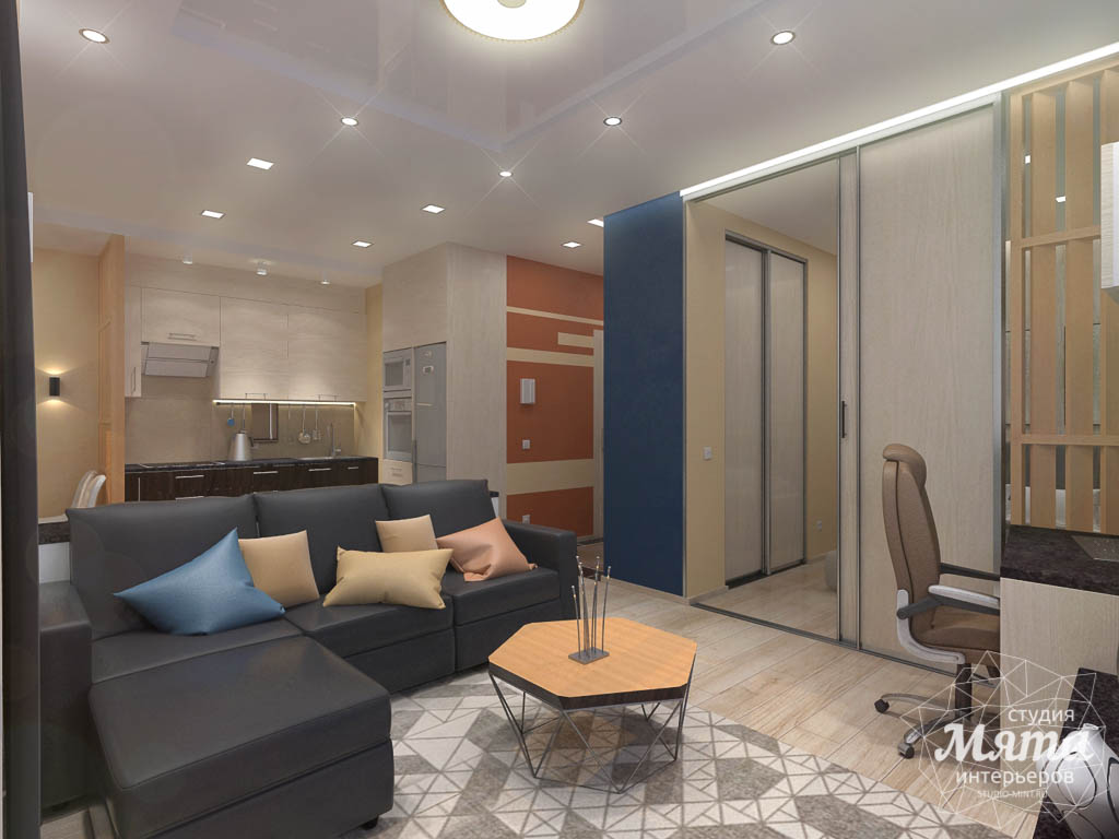 Дизайн интерьера однокомнатной квартиры в ЖК Крылов img1847921153