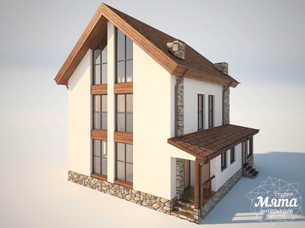 Дизайн фасада коттеджа в Хрустальном img738865945