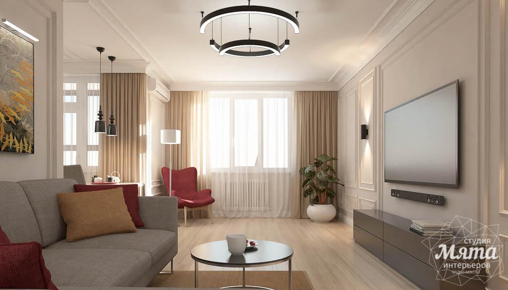 Дизайн интерьера трехкомнатной квартиры в ЖК Малевич img240916886