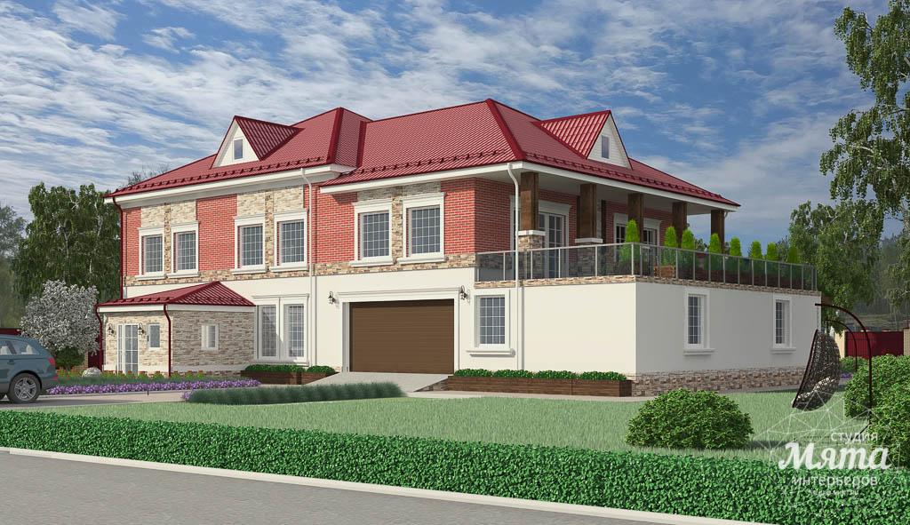 Дизайн фасада дома 532 м2 и бани 152 м2 г. Арамиль img1032305119