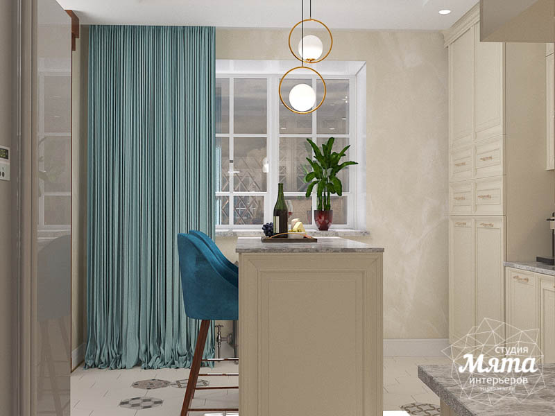 Дизайн интерьера квартиры в стиле современной классики в ЖК Вивальди img1556577848