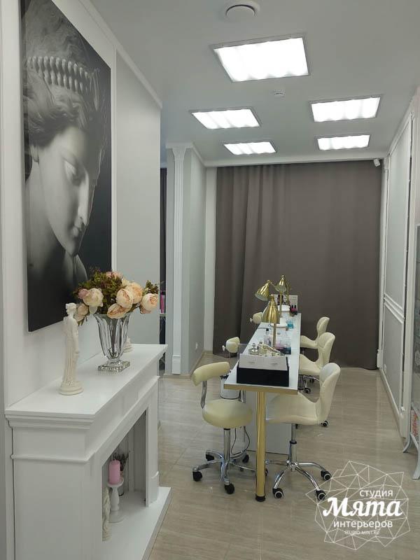 Дизайн интерьера и ремонт салона красоты в ЖК Флагман 28