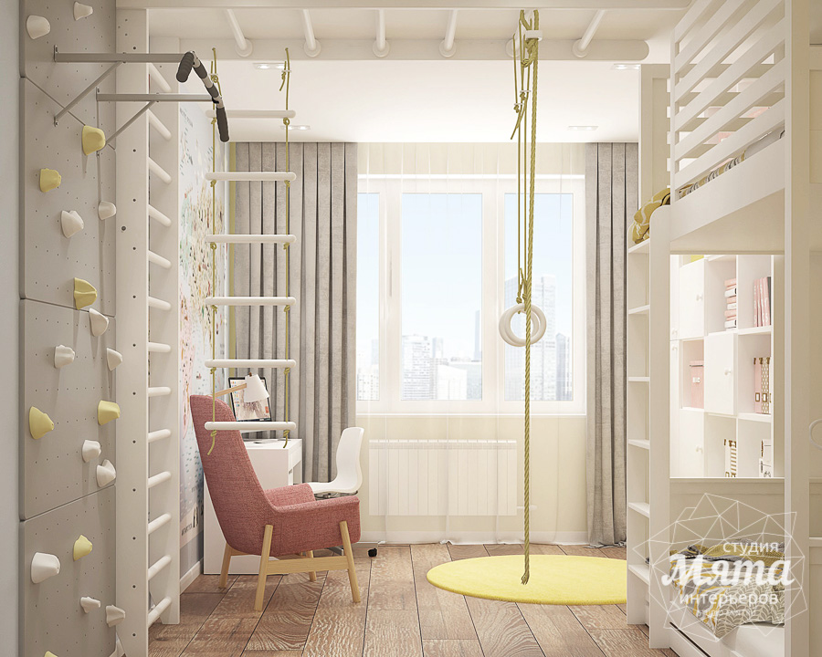 Дизайн интерьера трехкомнатной квартиры ЖК Клевер Парк img792765574
