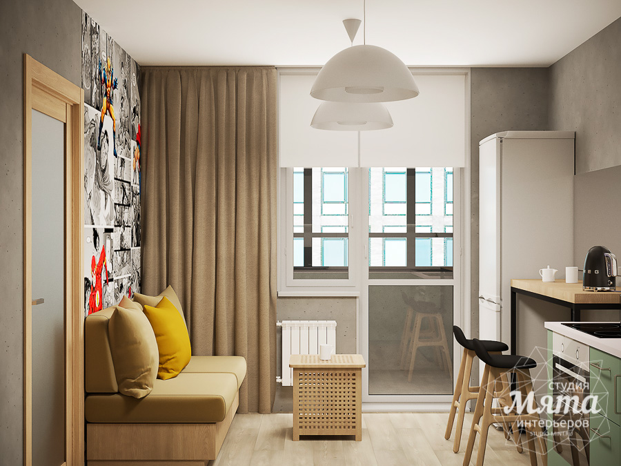 Дизайн интерьера однокомнатной квартиры ЖК Вернисаж img2009143092
