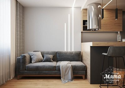 Дизайн интерьера однокомнатной квартиры в ЖК Оазис img458211845