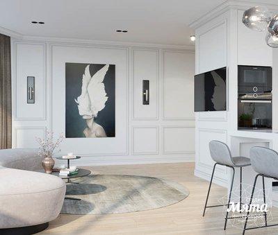 Дизайн интерьера двухкомнатной квартиры в ЖК Чемпион Парк img1830639888
