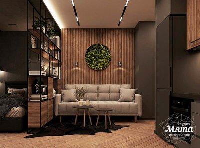 Дизайн интерьера квартиры - студии в ЖК Гринвуд img1648709240