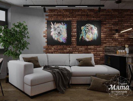 Дизайн интерьера квартиры в стиле лофт ЖК Солнечный Остров