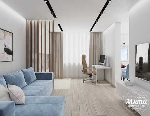 Дизайн интерьера трехкомнатной квартиры в ЖК Дом у пруда ...