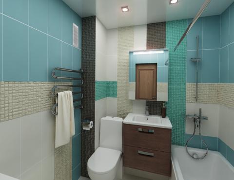 Дизайн интерьера ванной комнаты по ул. Фурманова 48