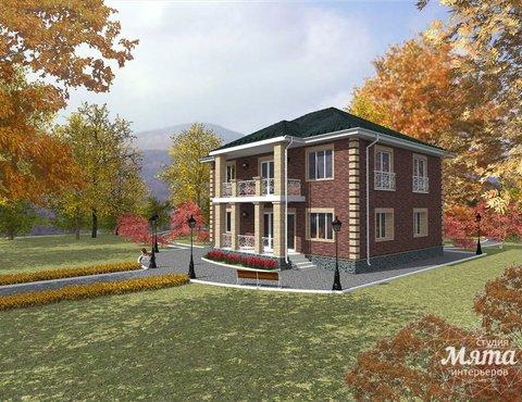 Дизайн проект фасада двухэтажного дома 210 м2 в Сочи