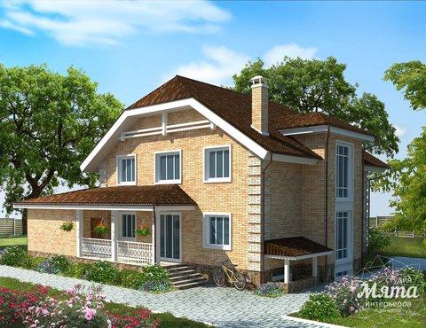 Дизайн-проект фасада коттеджа 400 м2 в КП Расторгуев