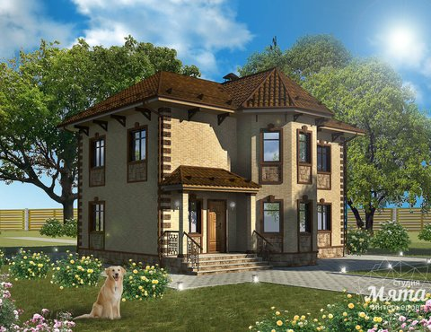 Дизайн фасада дома 160м2 в КП Александрия
