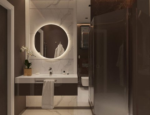 Дизайн интерьера однокомнатной квартиры в ЖК Крылов (2 очередь)