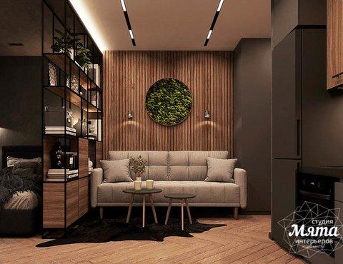 Дизайн интерьера квартиры - студии в ЖК Гринвуд