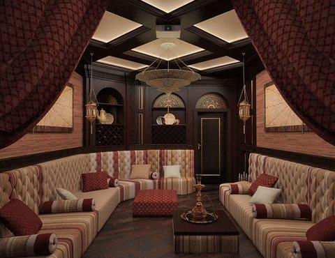 этнический стиль, интерьер восток, дизайн-проект спальни, востоный стиль, дизайн-проект коттеджа