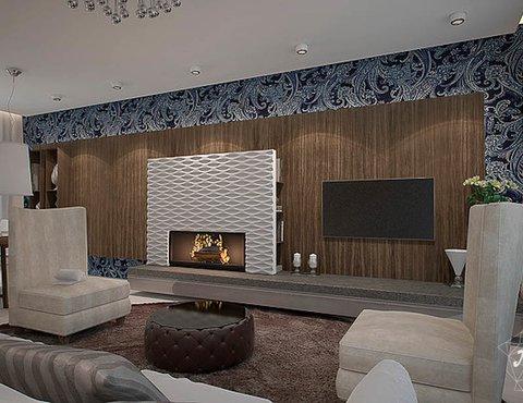 Дизайн интерьера трехкомнатной квартиры в Антаресе
