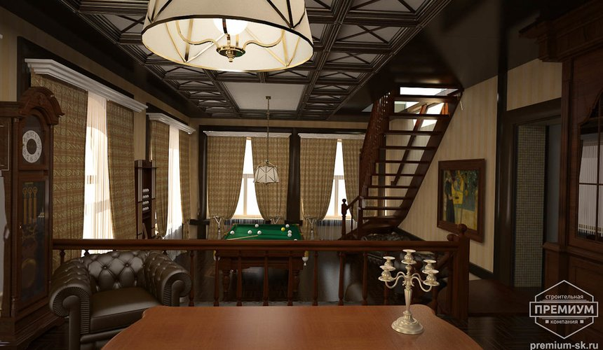 Дизайн интерьера коттеджа в п. Н. Рассоха 9