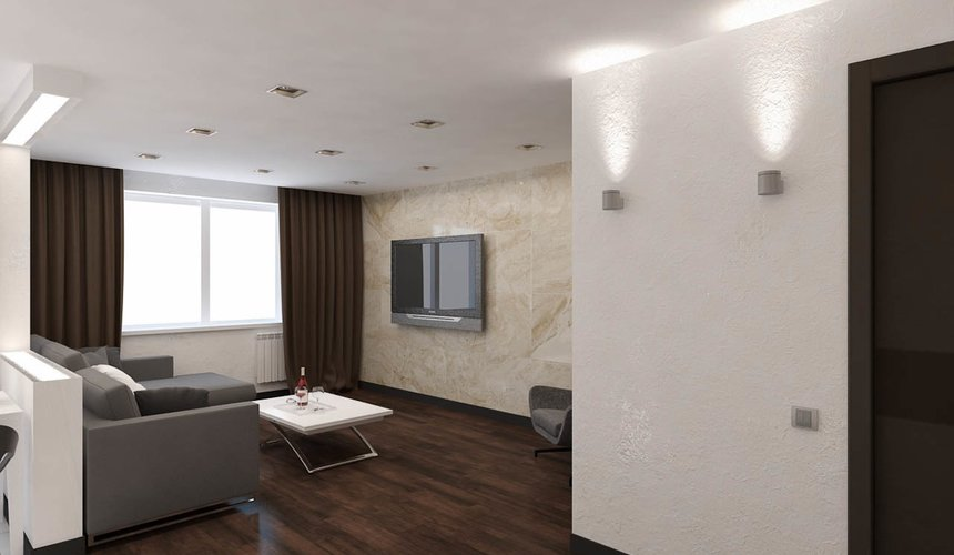 Дизайн интерьера однокомнатной квартиры по ул. Гагарина 27 10