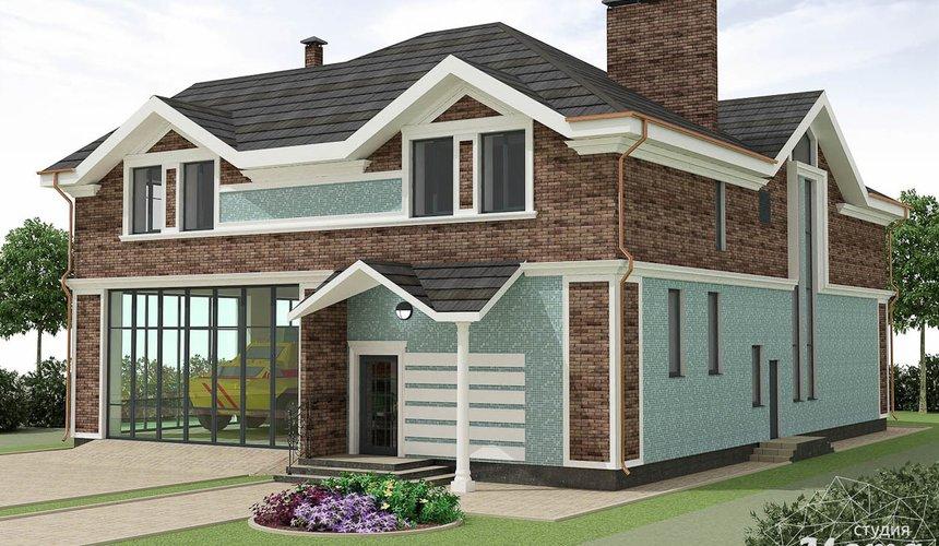 Дизайн фасада коттеджа в п. Палникс 3