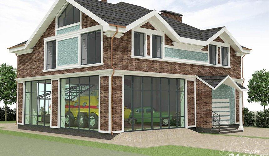 Дизайн фасада коттеджа в п. Палникс 4