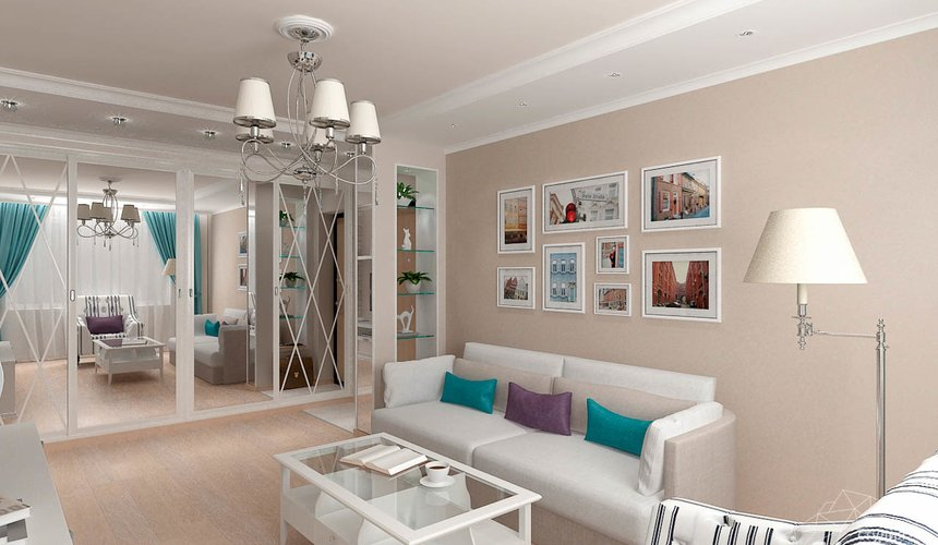 Дизайн интерьера двухкомнатной квартиры по ул. Шаумяна 93 7