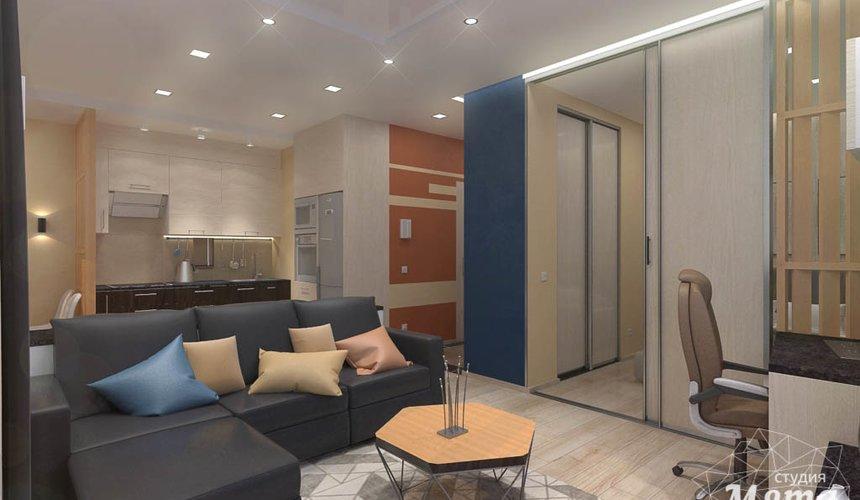 Дизайн интерьера однокомнатной квартиры в ЖК Крылов 7