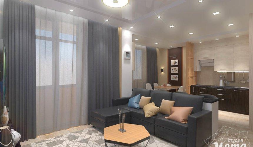 Дизайн интерьера однокомнатной квартиры в ЖК Крылов 8