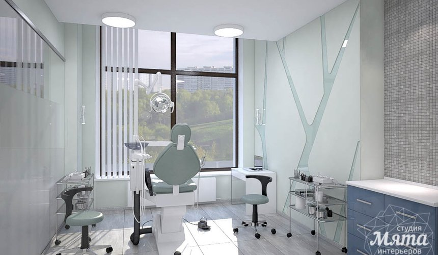 Дизайн интерьера и ремонт стоматологической клиники в ЖК Лига Чемпионов 44