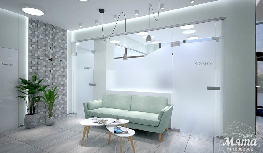 Дизайн интерьера и ремонт стоматологической клиники в ЖК Лига Чемпионов 61
