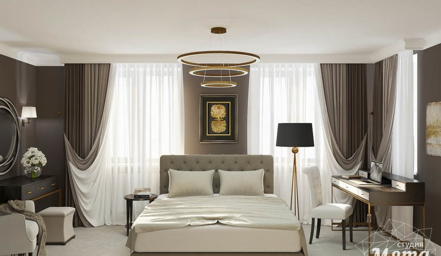 Дизайн интерьера спальни в ЖК Малевич 3