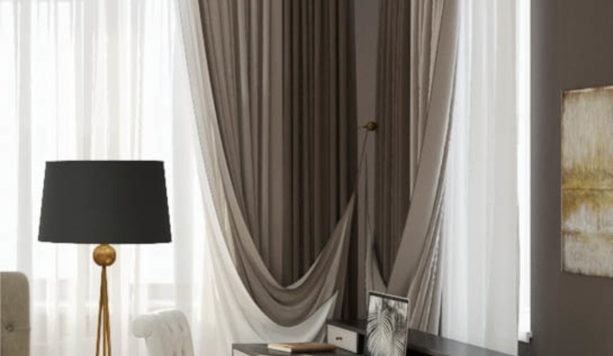 Дизайн интерьера спальни в ЖК Малевич 7