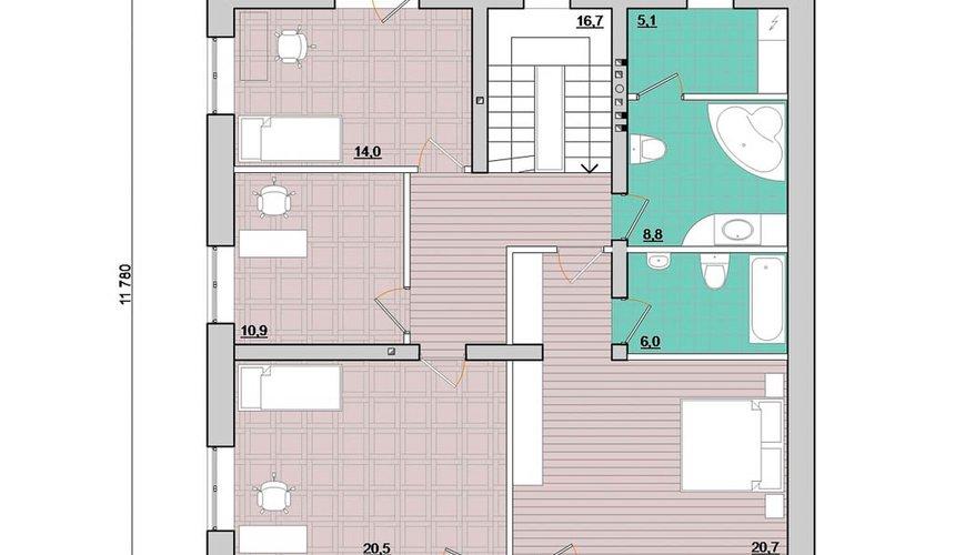 Дизайн проект фасада дома 200 м2 4