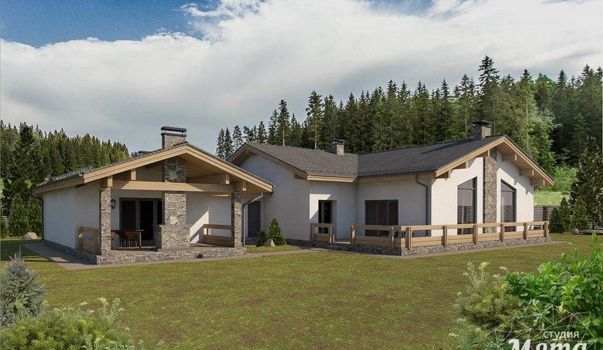 Дизайн-проект фасада коттеджа 240 м2 в КП Мельница 1