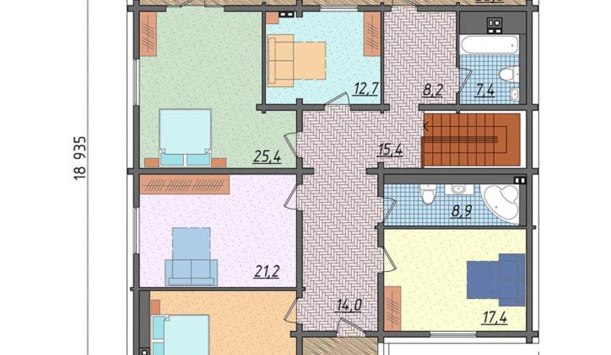 Дизайн-проект фасада коттеджа 495 м2 в КП Карасьозерский 6