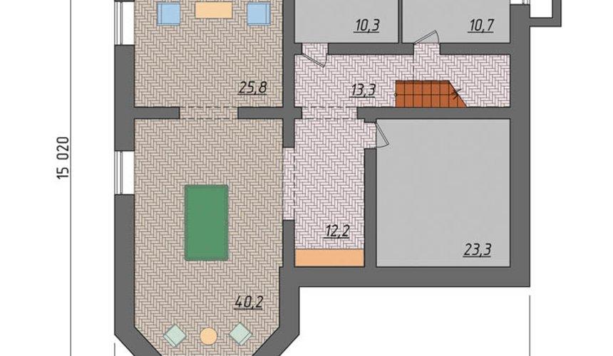 Дизайн-проект фасада коттеджа 495 м2 в КП Карасьозерский 7