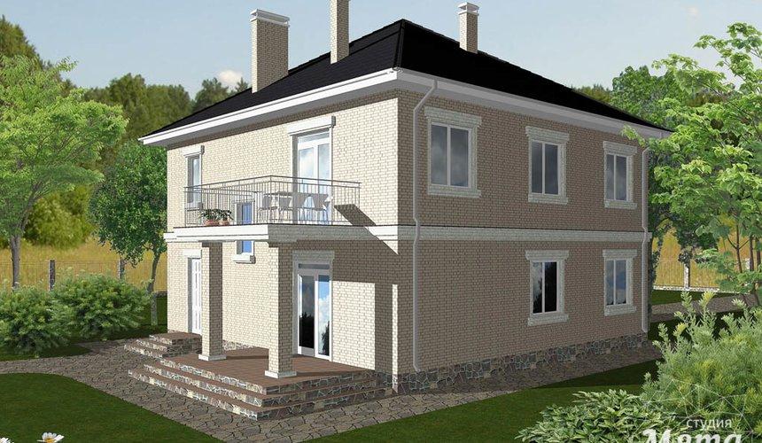 Дизайн проект фасада дома 200 м2 3