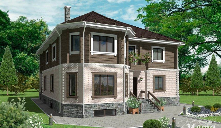 Дизайн-проект фасада коттеджа 495 м2 в КП Карасьозерский 1