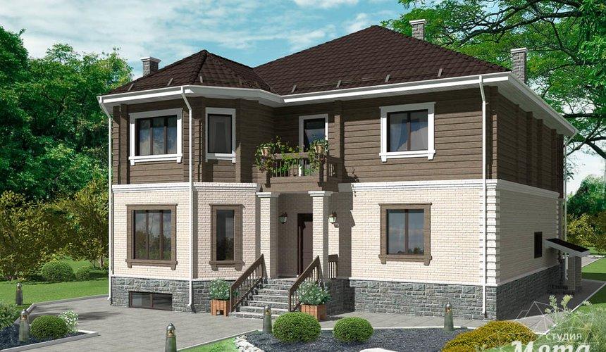 Дизайн-проект фасада коттеджа 495 м2 в КП Карасьозерский 4