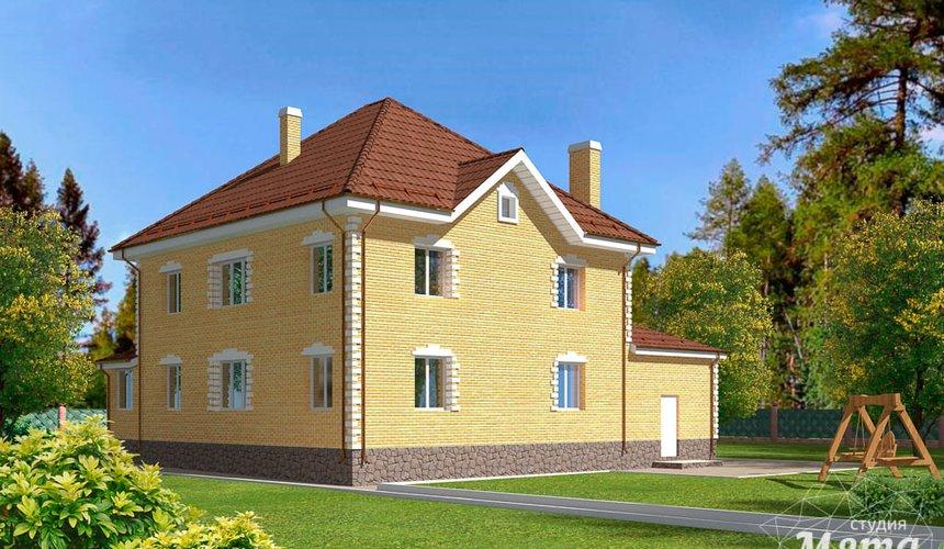 Дизайн фасада дома 270 м2 в КП Заповедник 3