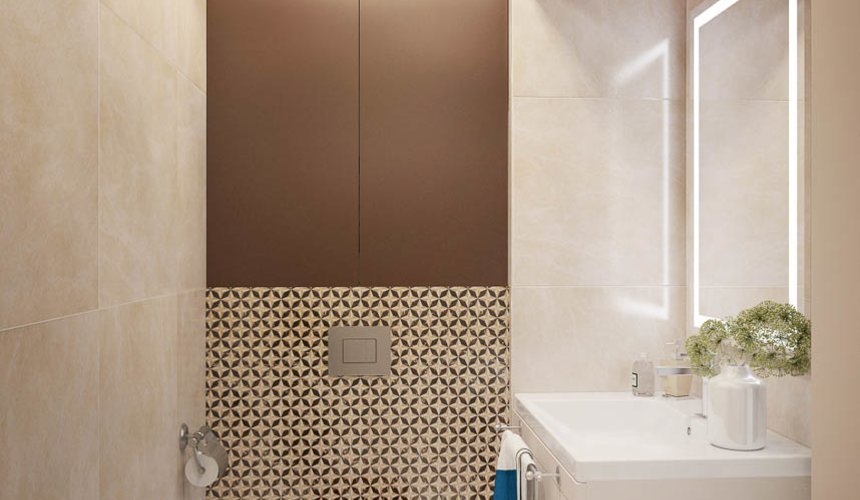 Дизайн интерьера двухкомнатной квартиры в ЖК Чемпион Парк 19