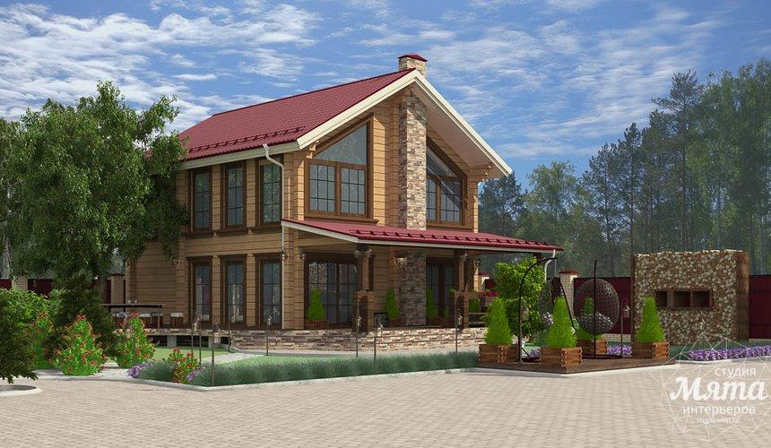 Дизайн фасада дома 532 м2 и бани 152 м2 г. Арамиль 11