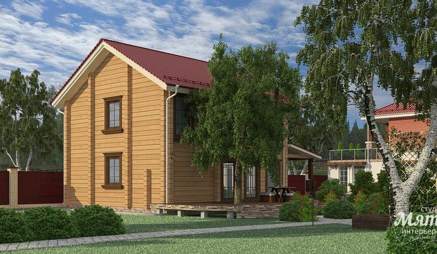 Дизайн фасада дома 532 м2 и бани 152 м2 г. Арамиль 22
