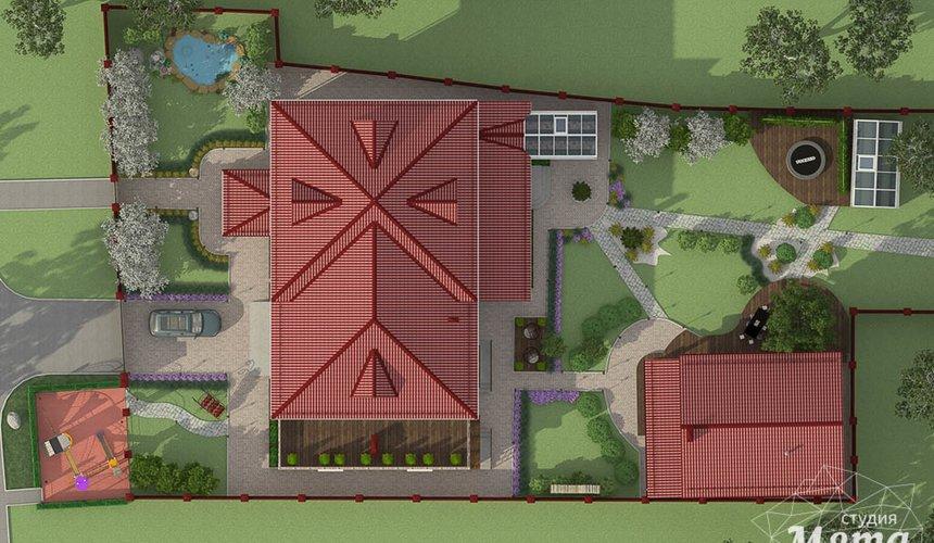 Дизайн фасада дома 532 м2 и бани 152 м2 г. Арамиль 23