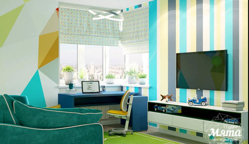 Дизайн интерьера четырехкомнатной квартиры по ул. Блюхера 41 25