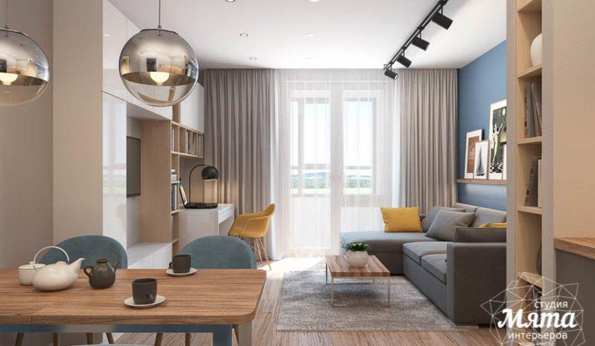 Дизайн интерьера двухкомнатной квартиры в ЖК Солнечный 3