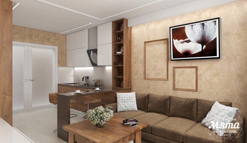 Дизайн интерьера двухкомнатной квартиры в ЖК Первый Николаевский 4