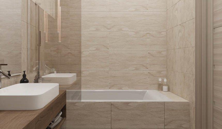 Дизайн интерьера ванных комнат двухуровневой квартиры в ЖК Современник 7