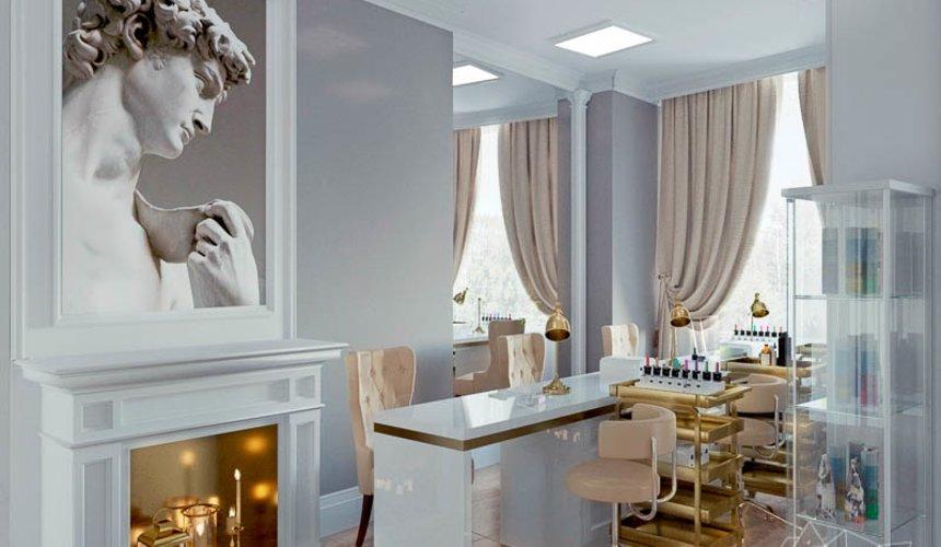 Дизайн интерьера и ремонт салона красоты в ЖК Флагман 36